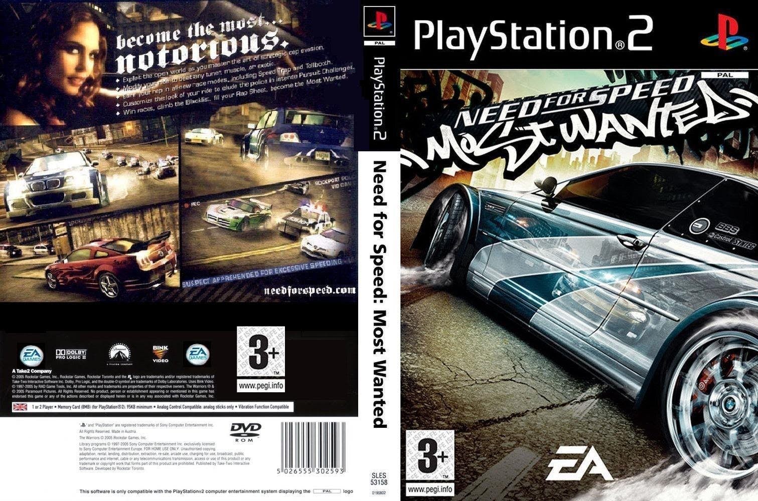 Need For Speed Most Wanted Europe Iso Ps2 Isos Emuparadise