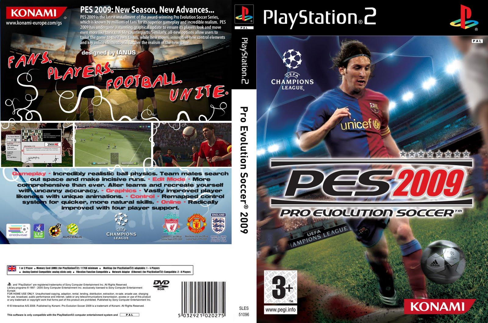 Pro Evolution Soccer 2009 (Europe) (Fr,De) ISO Download