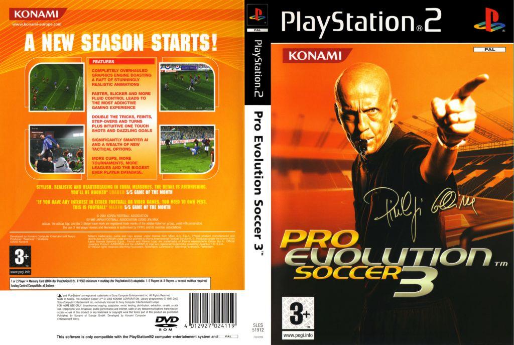 Pro Evolution Soccer 3 (Europe) (En,Fr,De,Es) ISO < PS2 ISOs