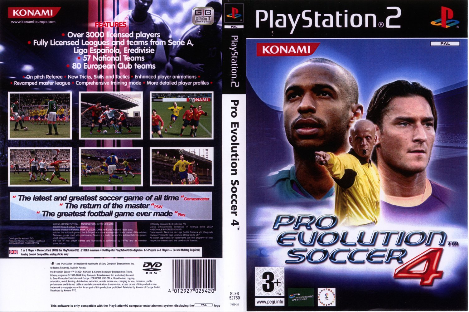 Pro Evolution Soccer 4 (Europe) (En,Fr,De,Es) (v2 00) ISO < PS2 ISOs