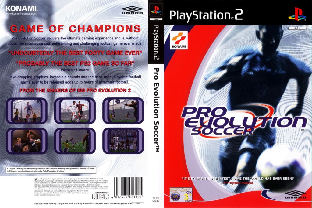 pro evolution soccer 2001
