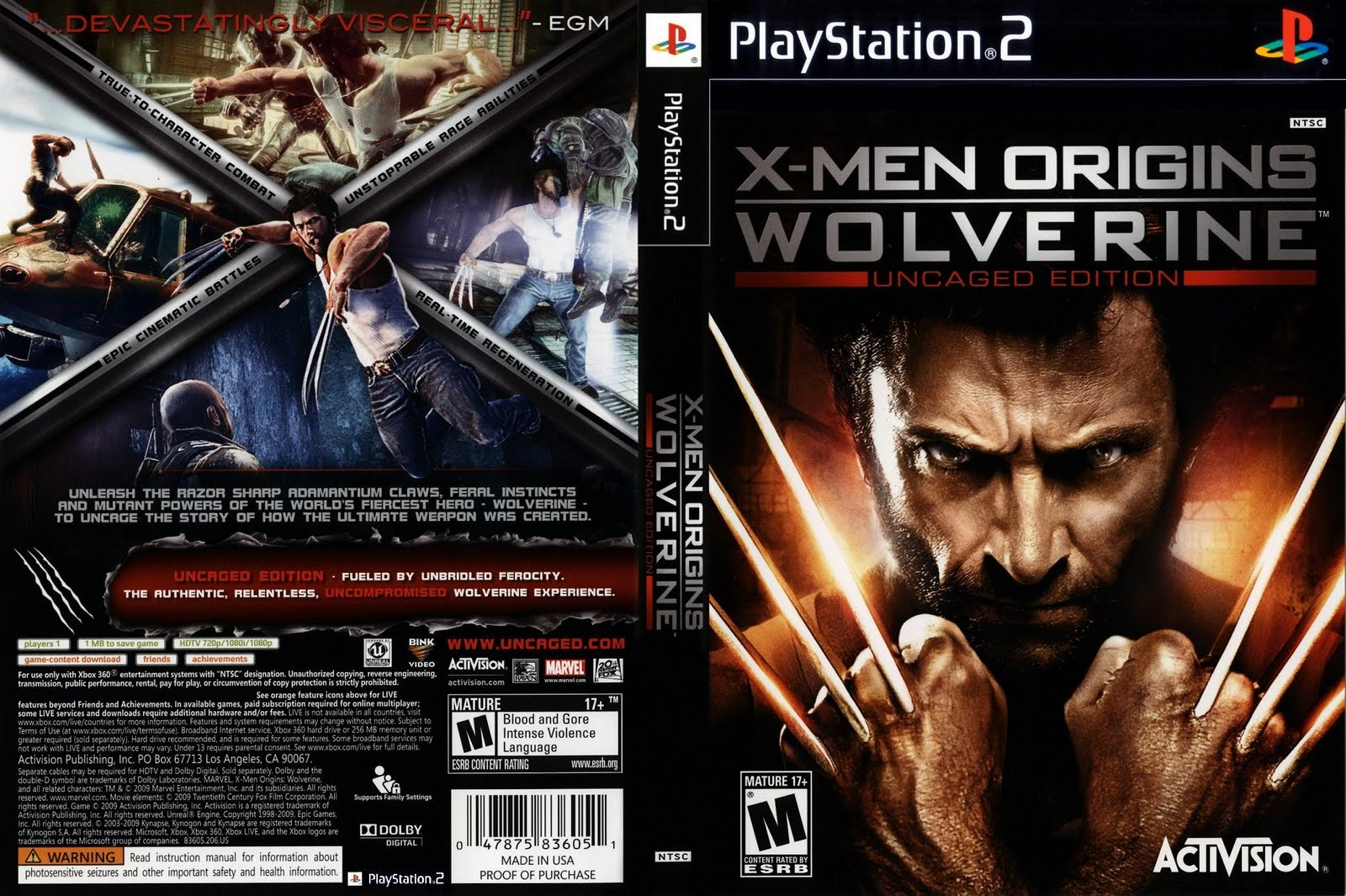 X-Men Origins - Wolverine (Europe) (De,Es,It) ISO
