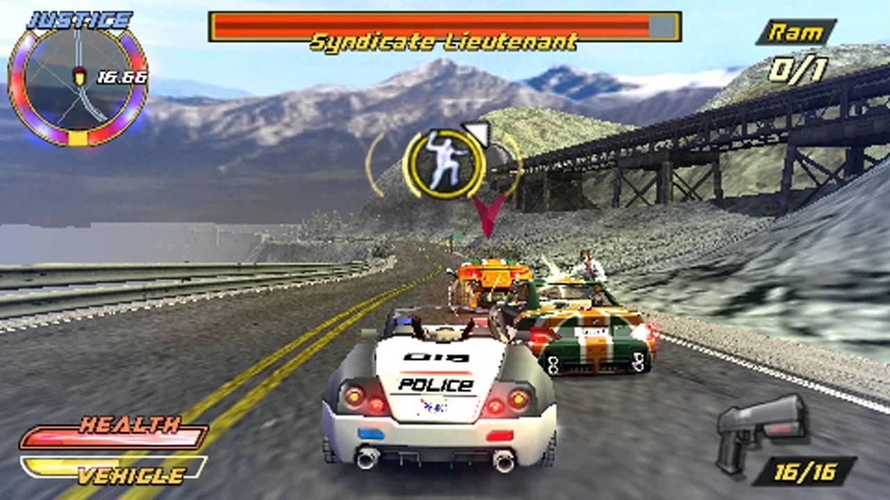 Pursuit Force Extreme Justice на PSP скачать торрент