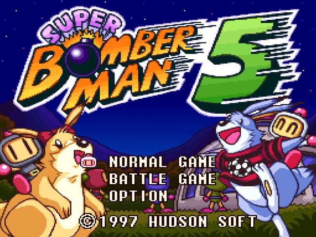 Super Bomberman 5, super nintendo-tela de Menu