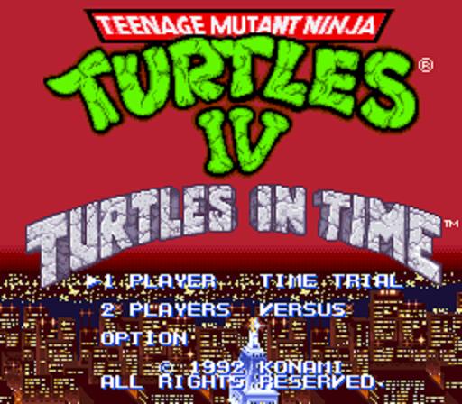 Teenage Mutant Ninja Turtles Iv Turtles In Time Usa Rom