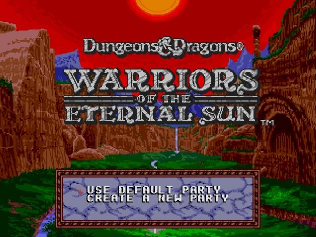 Dungeons & Dragons - Warriors of the Eternal Sun (USA