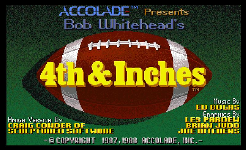 4th & Inches ROM < Amiga ROMs   Emuparadise