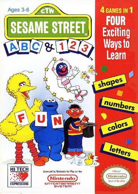Sesame Street ABC & 123 (USA) ROM < NES ROMs | Emuparadise