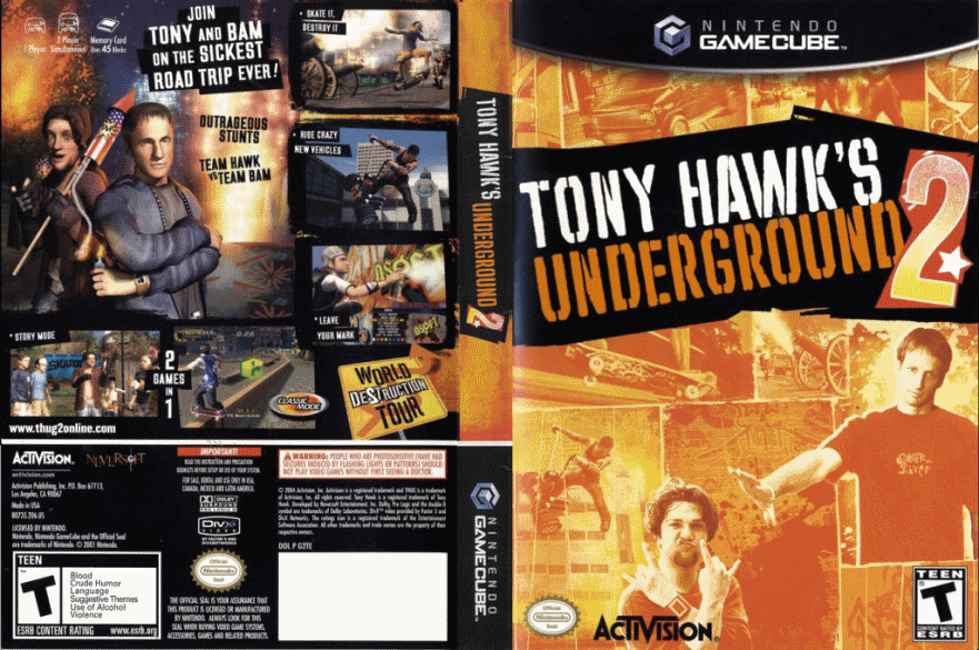 tony hawk underground gamecube iso