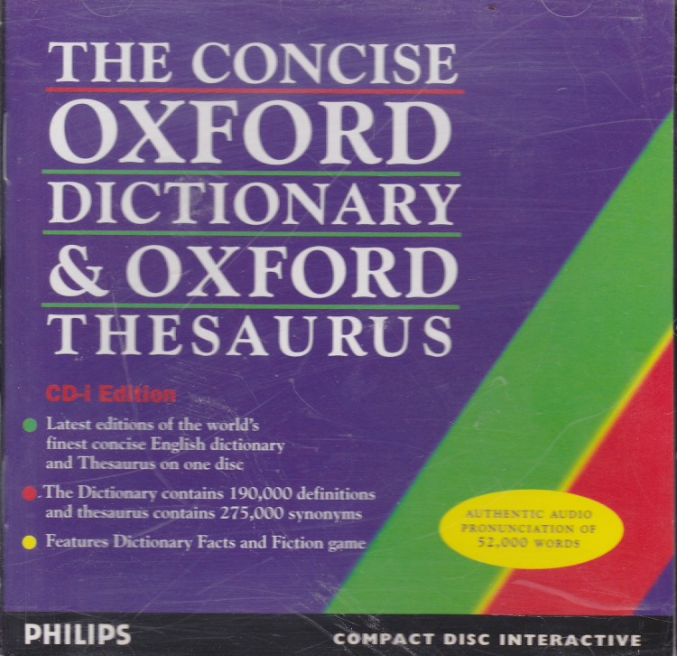 Concise Oxford Dictionary & Oxford Thesaurus (CD-i) ISO < CD