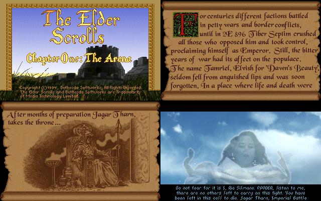 Elder Scrolls Arena (1992)(Bethesda Softworks) Game < DOS