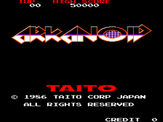 Screenshot Thumbnail / Media File 1 for Arkanoid (Tayto bootleg, harder)