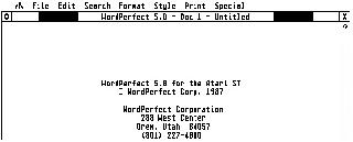 Screenshot Thumbnail / Media File 1 for Word Perfect v5.0 (1991-03-01)(Word Perfect Corporation)(Disk 1 of 3)