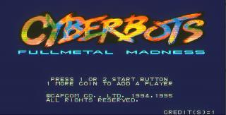 Screenshot Thumbnail / Media File 1 for Cyberbots: Fullmetal Madness (USA 950424)