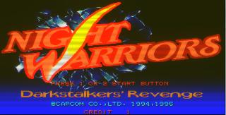 Screenshot Thumbnail / Media File 1 for Night Warriors: Darkstalkers' Revenge (Euro 950316)