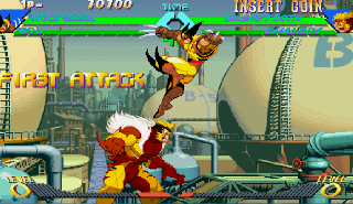 Screenshot Thumbnail / Media File 1 for X-Men Vs. Street Fighter (Euro 961004)