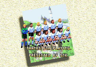 Screenshot Thumbnail / Media File 1 for Ultimate 11: The SNK Football Championship / Tokuten Ou: Honoo no Libero, The