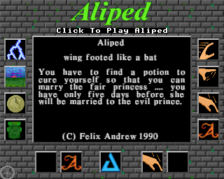 Screenshot Thumbnail / Media File 1 for Aliped (1990)(Felix Andrew)