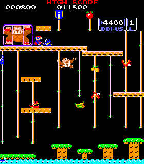 Screenshot Thumbnail / Media File 1 for Donkey Kong Jr. (Japan)
