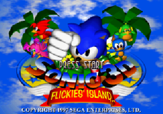 Screenshot Thumbnail / Media File 1 for Sonic 3D Flickies' Island (E)