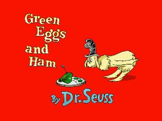 Screenshot Thumbnail / Media File 1 for Living Books - Green Eggs and Ham (CD Windows)