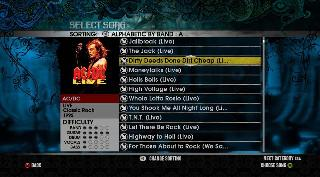 Screenshot Thumbnail / Media File 1 for AC-DC Live - Rock Band Track Pack (USA)