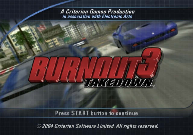 Burnout 3 - Takedown (USA) ISO < PS2 ISOs | Emuparadise