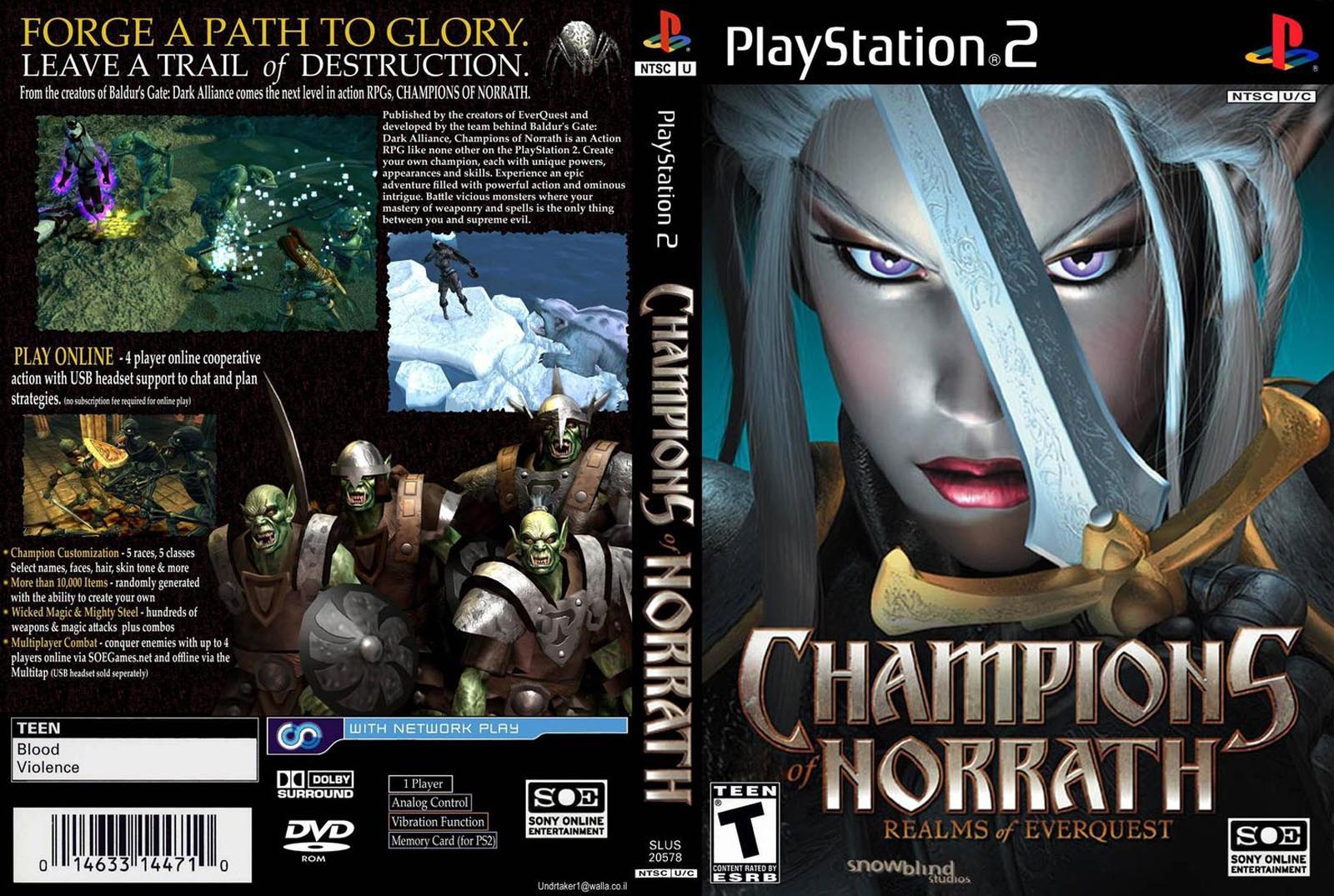 Champions of Norrath (USA) ISO < PS2 ISOs | Emuparadise