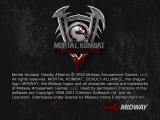 Screenshot Thumbnail / Media File 1 for Mortal Kombat - Deadly Alliance (USA)
