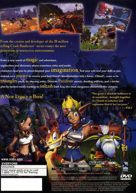 jak and daxter the precursor legacy ps2 iso