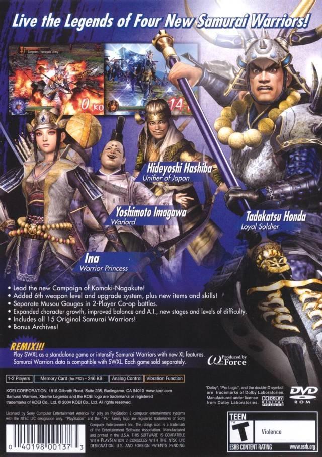 Samurai Warriors - Xtreme Legends (USA) ISO < PS2 ISOs