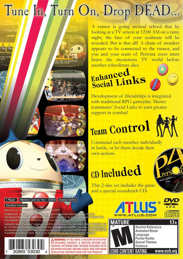 Shin Megami Tensei - Persona 4 (USA) ISO < PS2 ISOs | Emuparadise