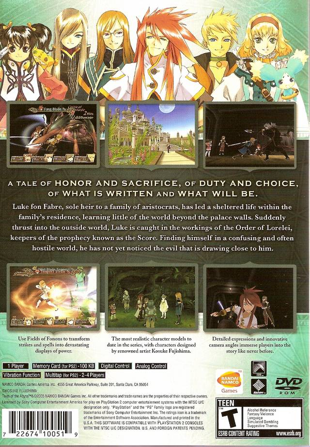 Tales of the Abyss (USA) ISO < PS2 ISOs | Emuparadise