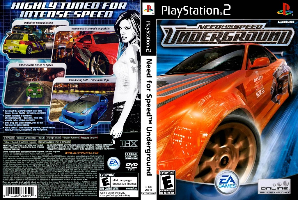 Need for Speed - Underground (USA) ISO Ps2 Need For Speed