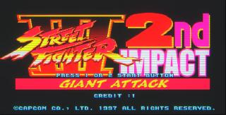 Screenshot Thumbnail / Media File 1 for Street Fighter III 2nd Impact - Giant Attack (JP)