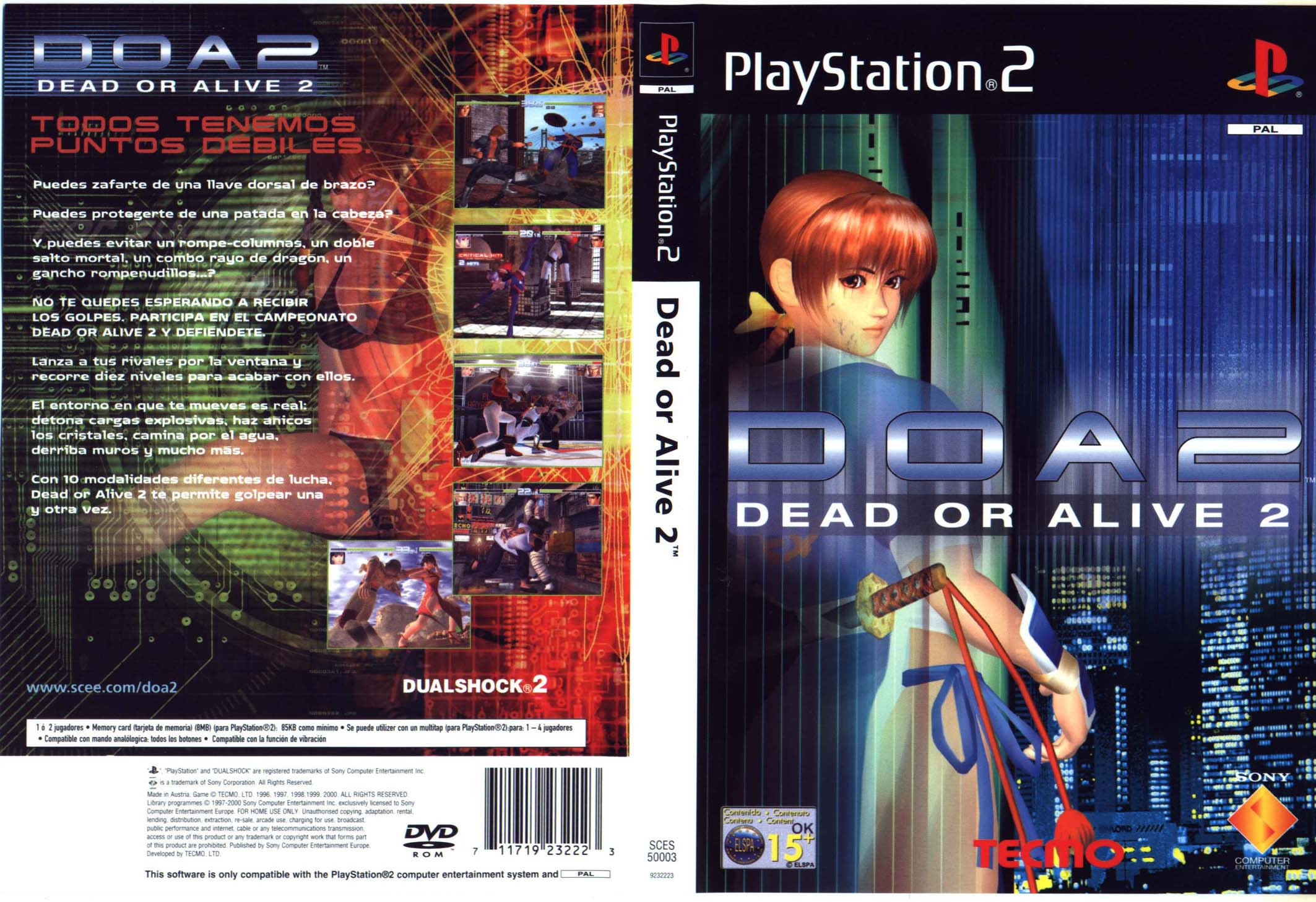 Dead or Alive 2 (Europe) (En,Fr,De,Es,It) ISO < PS2 ISOs | Emuparadise