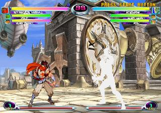 Screenshot Thumbnail / Media File 1 for Marvel vs. Capcom 2 - New Age of Heroes (Europe)