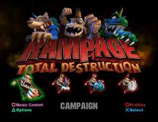 Screenshot Thumbnail / Media File 1 for Rampage - Total Destruction (Europe) (En,Fr,De,Es,It)