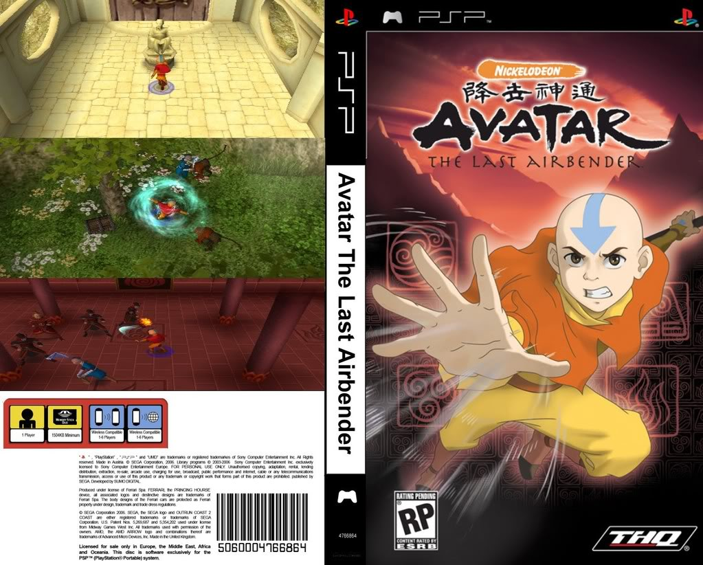 Avatar - The Last Airbender (USA) ISO < PSP ISOs | Emuparadise