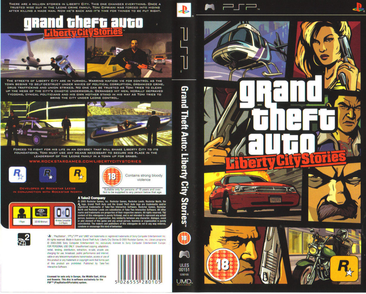 Grand Theft Auto - Liberty City Stories (USA) ISO