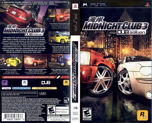 midnight club 3 dub edition remix ps2 ntsc