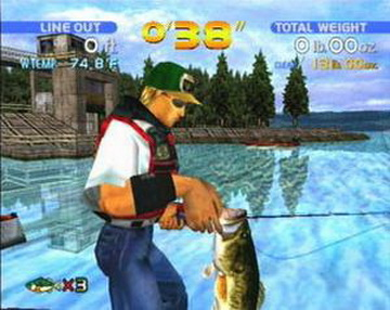 You wake up in the last video game that you played its for Bass fishing game