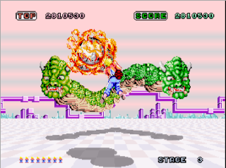 Screenshot Thumbnail / Media File 1 for Space Harrier (Rev A, 8751 315-5163A)