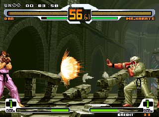 Screenshot Thumbnail / Media File 1 for SNK vs. Capcom - SVC Chaos (bootleg)
