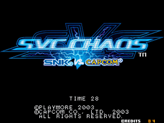 Screenshot Thumbnail / Media File 1 for SNK vs. Capcom - SVC Chaos (JAMMA PCB, set 2)
