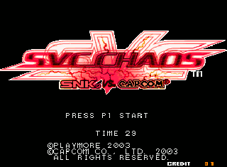 Screenshot Thumbnail / Media File 1 for SNK vs. Capcom - SVC Chaos Super Plus (bootleg)