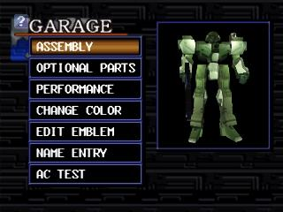 Screenshot Thumbnail / Media File 1 for Armored Core - Master of Arena (Japan) (Disc 1) (v1.0)
