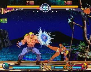 Screenshot Thumbnail / Media File 1 for Street Fighter III - Double Impact (USA)