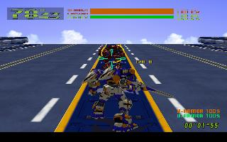 Screenshot Thumbnail / Media File 1 for Cyber Troopers Virtual On - Oratorio Tangram (USA)