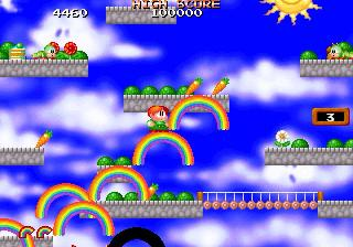 Screenshot Thumbnail / Media File 1 for Bubble Bobble featuring Rainbow Islands (U)